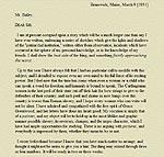 informal letter to uncle sample