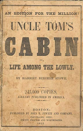 An image of Uncle Tom's Cabin, the 1853 edition.